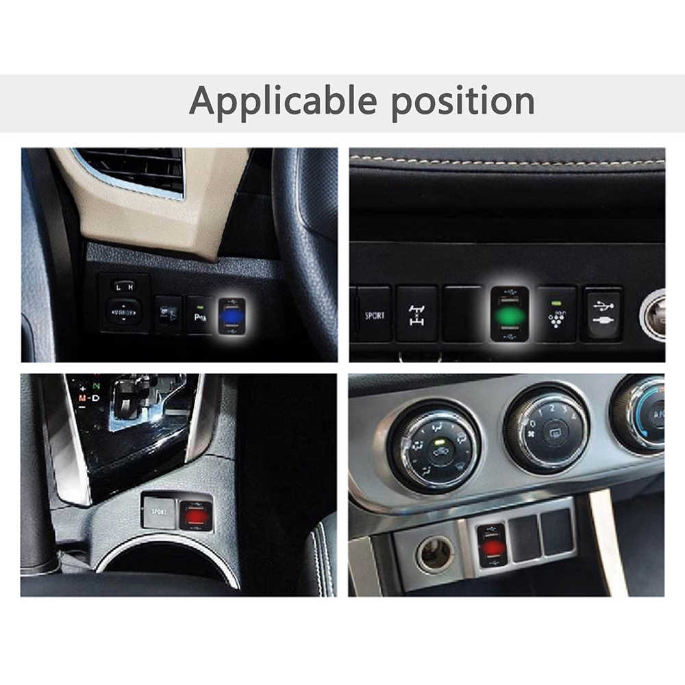 12V Car Dual blutooth Car Dual USB Charger Mini Cigarette Lighter Socket Car Dual USB Socket Car for Toyota
