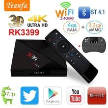 Android 7.1 CAIXA de TV IPTV 4 gb gb Rockchip 32 RK3399 R-TV CAIXA 2.4g BT4.0 5g Dual WI-FI 1000 m LAN iptv USB3.0 Tipo-c Media smart bo'x