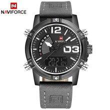 NAVIFORCE 9095 שעון גברים יוקרה מותג גברים קוורץ ספורט צבאי שעונים גברים דיגיטלי מזדמן אלקטרוני עמיד למים קוורץ-שעון