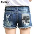 2016 verão buraco Fosco denim mulheres short Jeans de Lavagem de jeansWomen Senhora Calças Curtas Calças