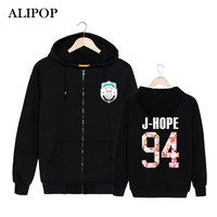 ALIPOP KPOP Korean BTS 2th Album WINGS Bangtan Boys HipHop Monster Cotton Zipper Hoodies Clothes Zip