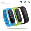 Smart Smartband Bracelet Wristband E02 Fitness Sleep Tracker Bluetooth 4.0 flex Sport Running Smart Health Band for IOS Android