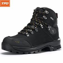TFO senderismo zapatos hombres mujeres Al Aire Libre Impermeable Escalada pesca caza camuflaje táctico militar del cuero genuino de la zapatilla de deporte
