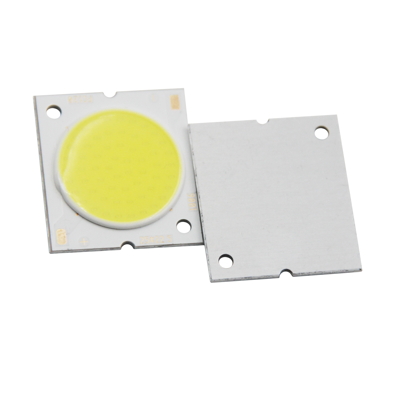 Купить с кэшбэком Factory sale 22.5mm Square Aluminum Board LED COB Strip High lumen chip Light Source Module 10W 15W 20W 30W COB for bulb lamp
