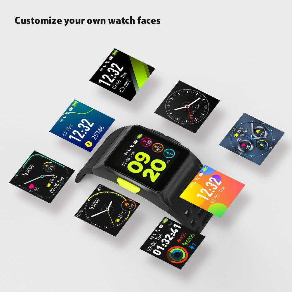 US $119 98 |Makibes BR1 Smartwatch Support Strava IPS Color Touchscreen GPS  IP67 Water Resistant Multisport Band for Xiaomi IOS Android-in Smart