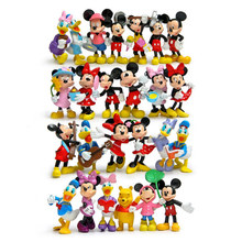 цена на Action Figures Toy Set Plastic PVC Mickey Minnie Donald Collection Models Girls Christmas Gifts Vynly Dolls  Hot Toys for Children