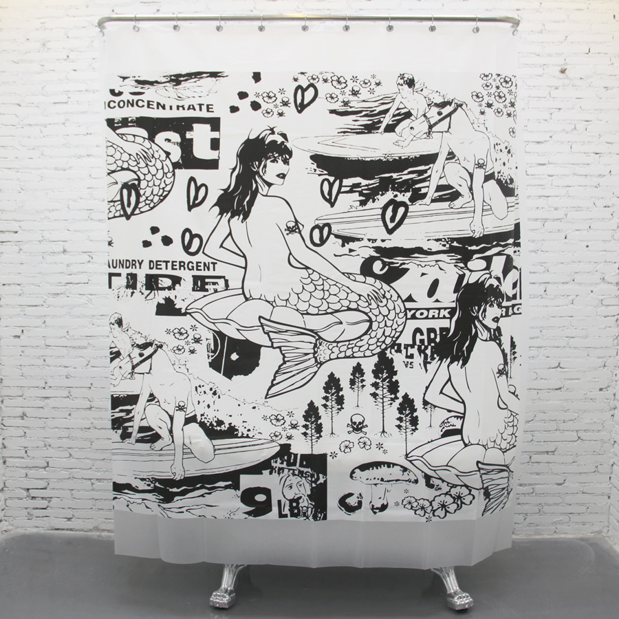 With creative shower curtains white and black creative shower curtain - Eva Waterproof Mouldproof Thickening Creative Shower Curtains Bathroom Toilet Curtain Shower Curtain Mermaid China