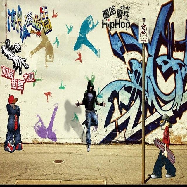 Custom Mural Street Graffiti Painting Hip Hop Performance Bar KTV Stereo High Quality