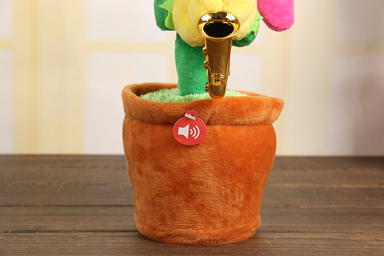 Stuffed & Plush Plants Gentle Soft Stuffed Plush Toys Singing Flower Sunflower With Saxophone Soft Stuffed Plush Funny Electric Toys For Kids Birthday Gift