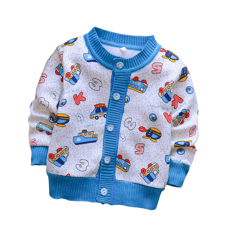 BibiCola Baby Clothes Baby Boys Girls Cartoon Sweaters Kids Cardigan Cotton Outerwear Spring Autumn Sweaters Baby Clothing 0-2 Y