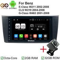 Octa Core 2 Din 8 Android 6 0 Car DVD Radio GPS For Mercedes Benz E