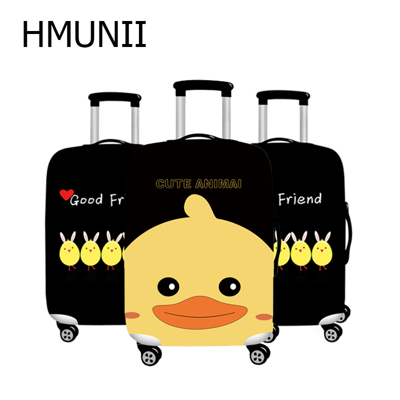 HMUNII Fashion Little Yellow Duck Travel Luggage Cover For 18-32 Inch Suitcase Protection Cover Dust Cover Travel Accessories