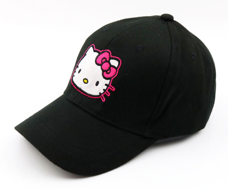 09d1f0ae08ccb Girls Ponytail Baseball Hat Solid Cotton Hat Adjustable Hello Kitty  Baseball Caps Kids Spring Summer Girl Baseball Cap Child Cap-in Baseball  Caps from ...
