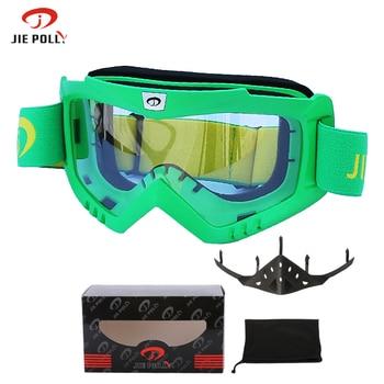 Jiepolly Snowboard Snowmobile Professional Ski Goggles Anti Fog Anit-UV Skiing Eyewear Motorcycle Helmet Glasses