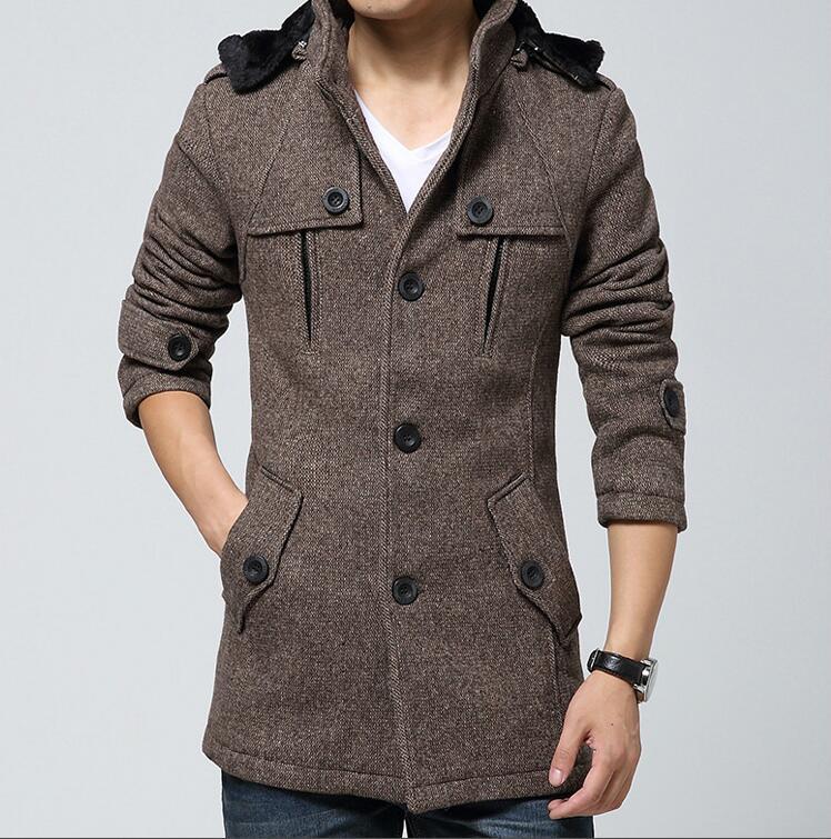 Popular Hooded Wool Coat for Men-Buy Cheap Hooded Wool Coat for