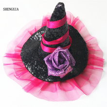 New Halloween witch hat headband costume party dress makeup tiara hair accessories for the holiday celebration of adult children