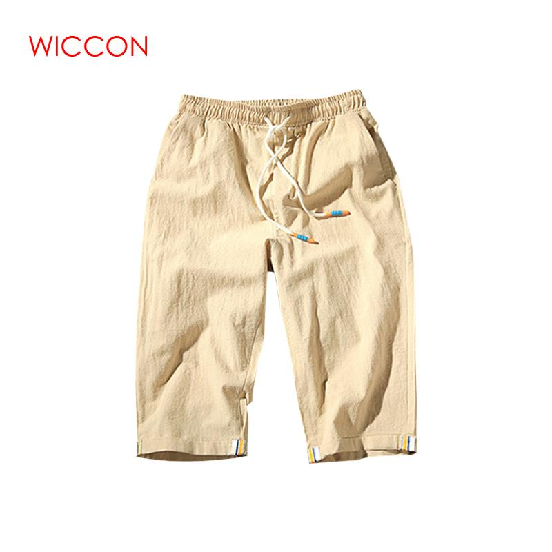 2020 High Quality Mens Shorts Summer Style Shorts Men Cotton Casual Shorts Man Cotton Beach Linen Shorts