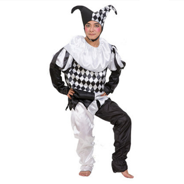 Schwarz Weiss Clown Kostume Fur Manner Erwachsene Clown Cosplay