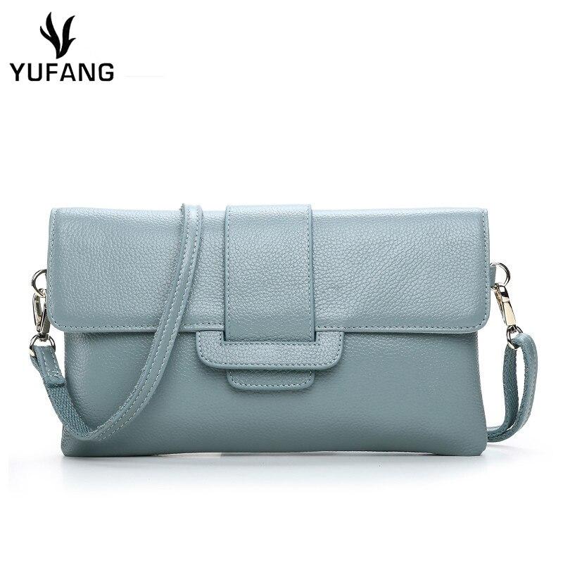 96d8e8e407 YUFANG Women Mini Messenger Bag Genuine Leather Female Shoulder Crossbody  Bag Candy Color Casual Bag For