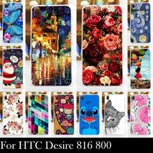 Para htc desire 816 800 d816w caso de plástico rígido caso tampa do telefone móvel diy cor paitn celular saco shell