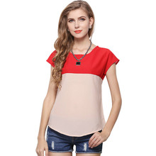 Shirts Women Blusas 2017 Fashion Summer Women Blouses Loose Short Sleeved Shirt Ladies Casual Blouse Plus Size Chemise Femme #40