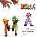 Кукла Марионетка Кукольные Детские игрушки клоун Маппет-Шоу Зеленый Orange Стороны Марионеточных Рассказать историю тень Забавный Традиции Деревянные Игрушки плюшевые куклы