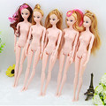 30CM New 3D Eyes Nude Naked doll Toy /12 Joint Moveable /Long Stright Curly Hair White Skin For Barbies Kurhn Doll Xmas Gift