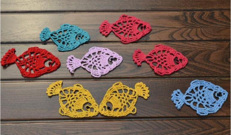 Moderno panno di pizzo di cotone Crochet tavolo tovaglietta pad ...