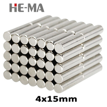 20Pcs 4x15 mm Neodymium Magnet N35 round super powerful neodymium magnets free shipping gallium metal search magnet Disc 4*15