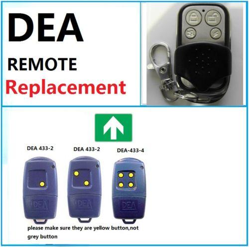 DEA 433-1 433-2 433-4 Garage Door Remote Control Compatible Remote Universal remote control, transmitter 433.92 MHZ Key Fob