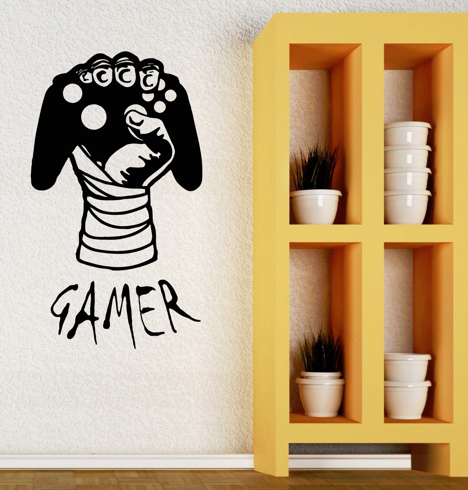 HWHD Wall Decal Gamer Video Game Boys Room Joystick Vinyl Stickers ...