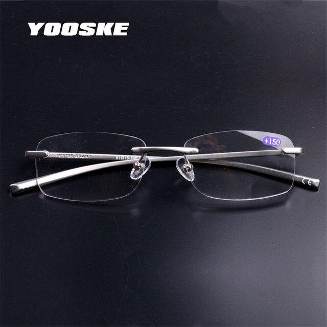f21e53cca7131 YOOSKE para hombre mujer de Metal de aluminio sin montura gafas de lectura  claro espejo gafas