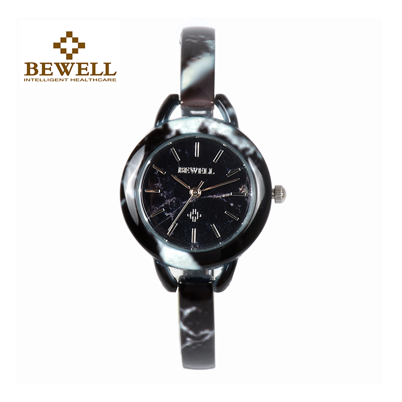 BEWELL Women's Jewel Stone Watch Female Jade Jewelry Wrist Watches Girl Gem Bracelet Clock As Gift For Mother Daughter 079A