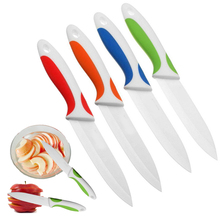 3/4/5 Inch White Fruits Knife Blade Colorful Handle Ceramic