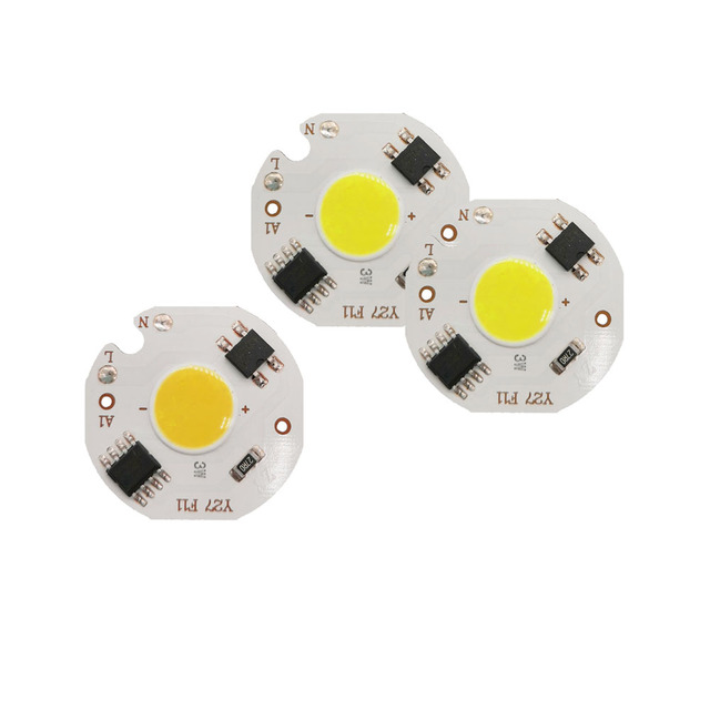 ED COB Chip 5W 7W 3W 9W  AC 220V 220V No need driver Smart IC bulb lamp For DIY LED Floodlight Spotlight