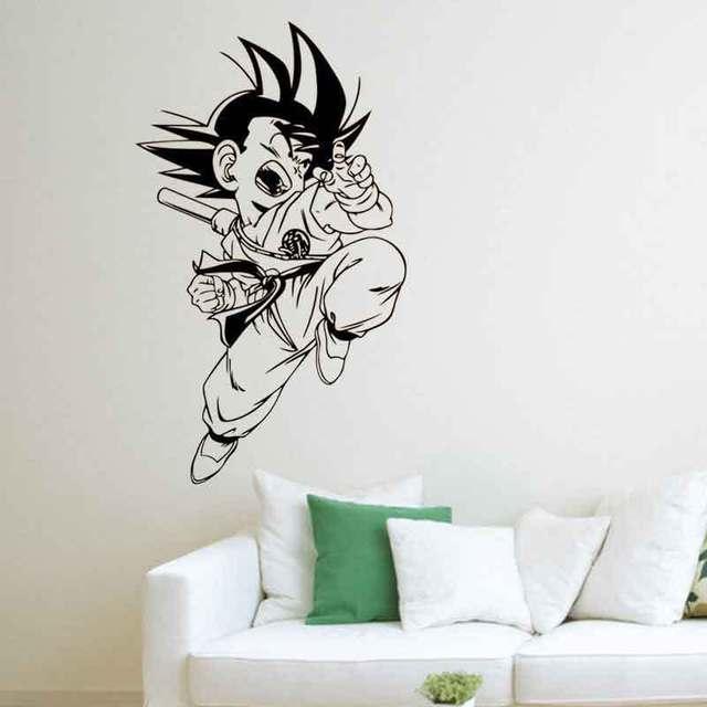 cartoon dragon ball sun wukong vinyl wall decal home decor living