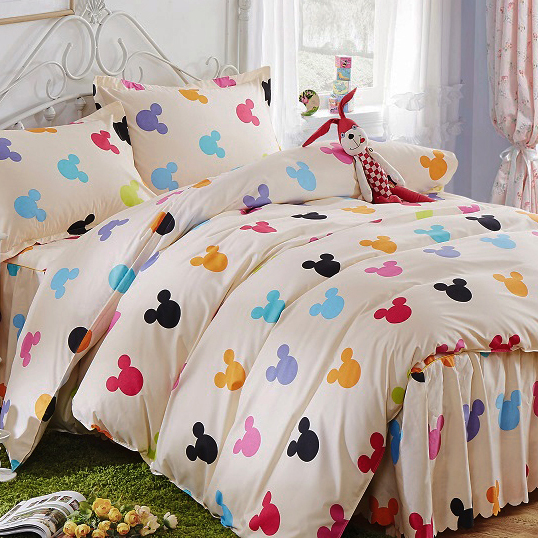 Bedding set Mickey and Minnie Mouse Duvet cover set Bed Set 3 Pcs  bedclothes  Popular. Mickey And Minnie Bedding