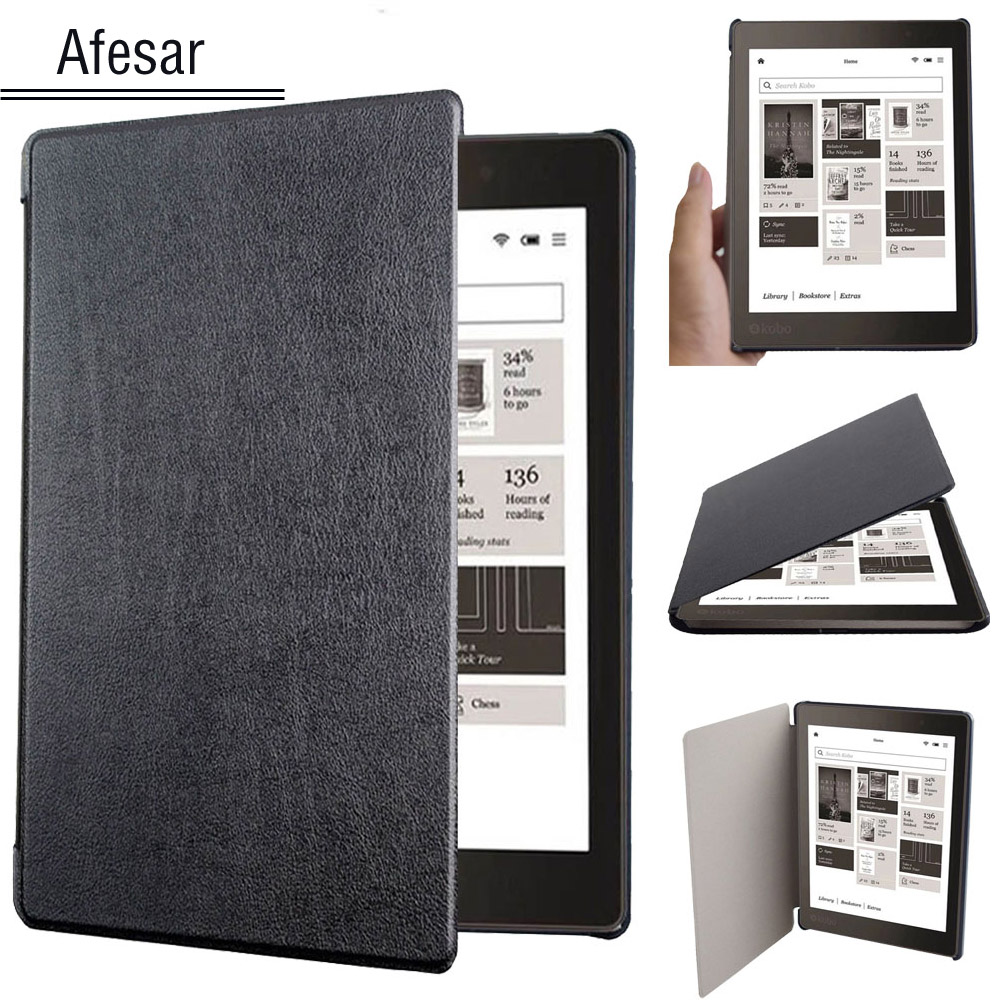 Afesar UltraSlim Flip Book Cover for Kobo Aura One 7.8 inch 2016 Release eReader Pu Leather Folio Protective Smart Case Cover ultra slim custer 3 folder folio stand pu leather magnetic skins cover protective case for kobo aura one 7 8 inch ereader ebook