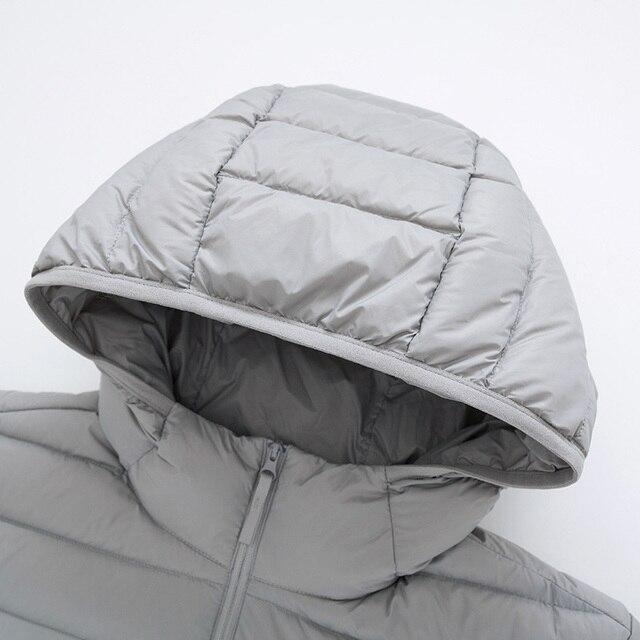SEMIR marque hommes doudoune décontracté veste d'hiver pour hommes coupe-vent à capuche blanc canard manteau vêtements pour hommes vêtements 4