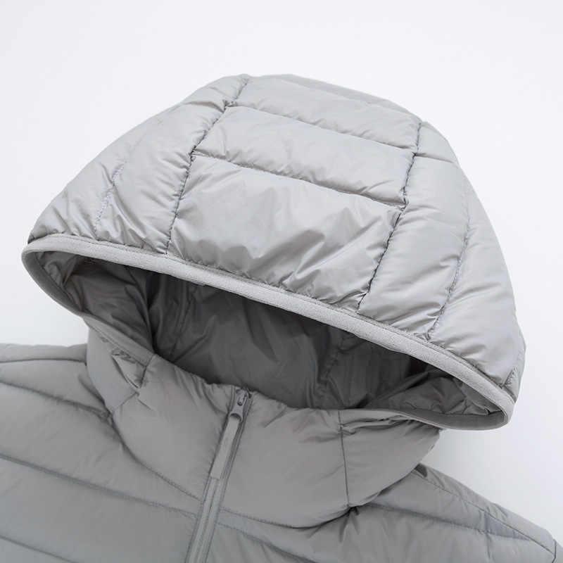 SEMIR бренд мужской пуховик Повседневная модная зимняя куртка для мужчин с капюшоном ветровка белая утка пальто мужская верхняя одежда