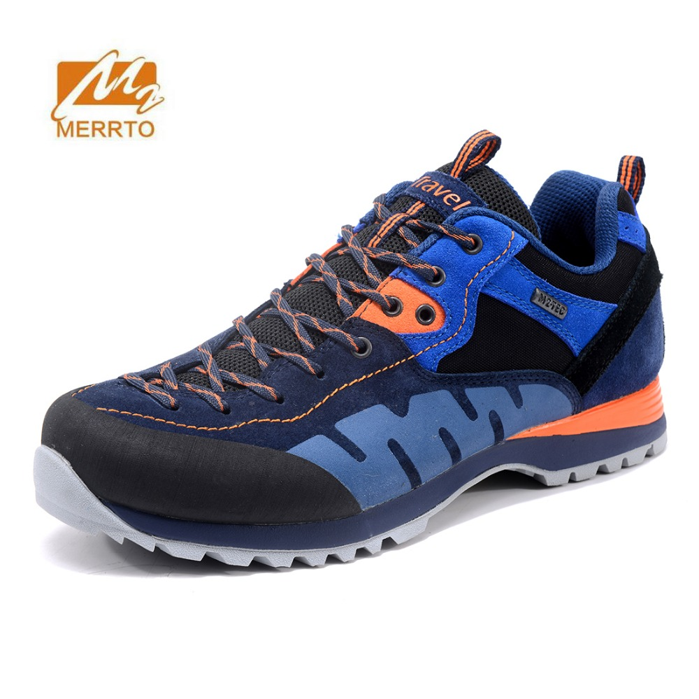 MERRTO Men's Winter Outdoor Hiking Trekking Shoes Leather wear-resistant anti-skid Climbing Mountain Sneakers camping Footwear merrto men s outdoor cowhide hiking shoe multi fundtion waterproof anti skid walking sneakers wear resistance sport camping shoe