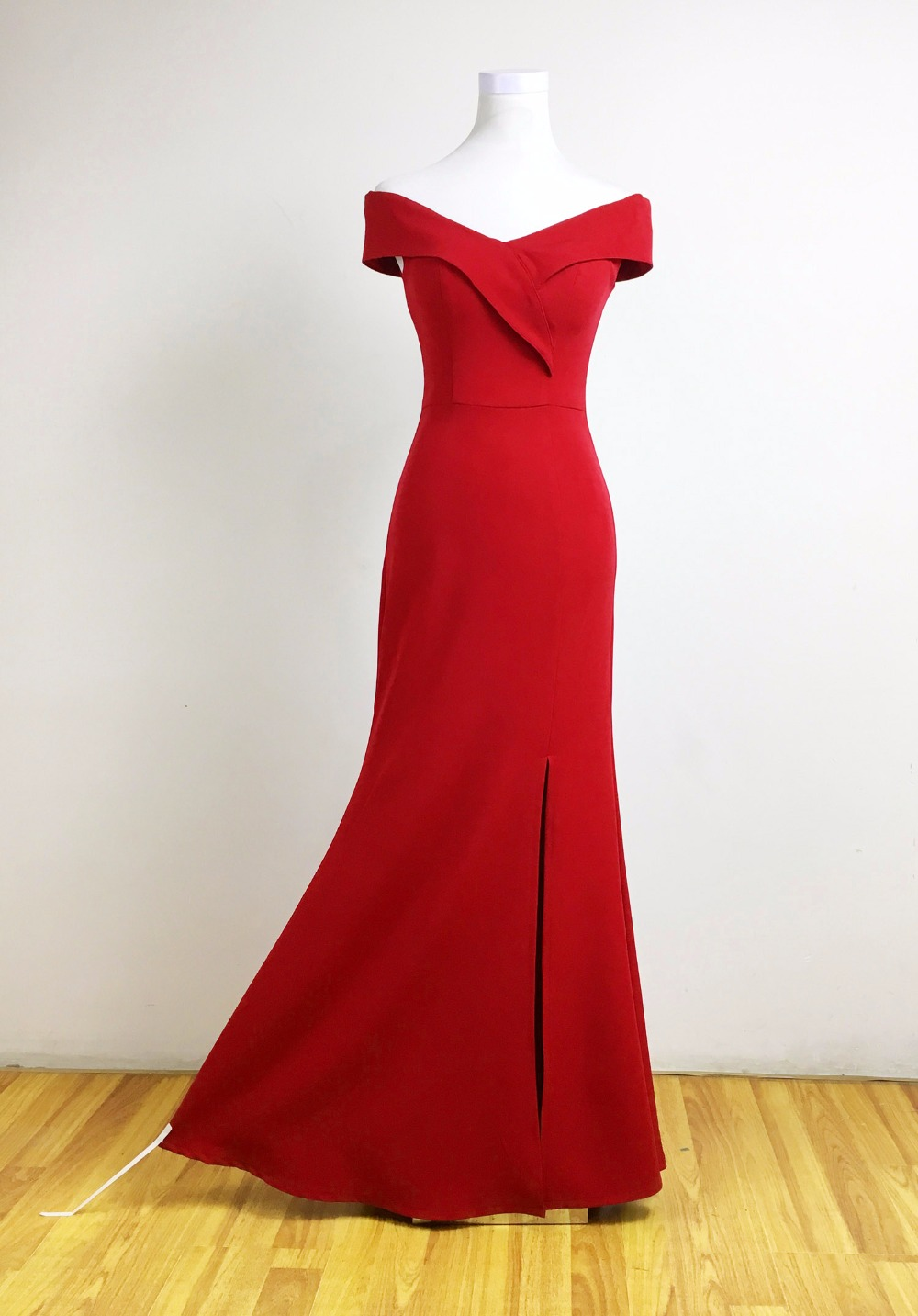 Mermaid Designer Evening Gowns Side Split Red Prom Dress Sexy Long ... 3d6870c6aa3f