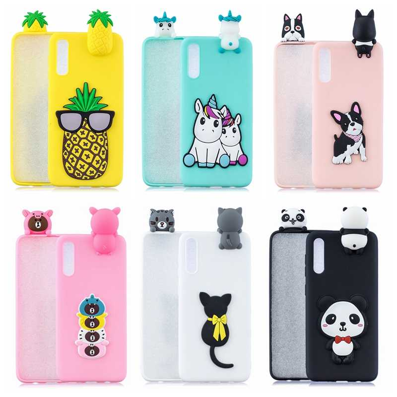 A50 A70 Case for Samsung A50 A70 Case Cover A30 A40 DIY 3D Dog Unicorn Panda Silicone on for Samsung Galaxy A10 A20 A30 A40 Case