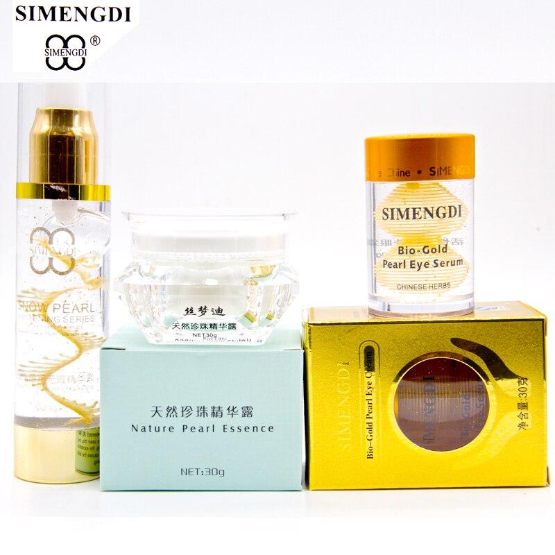 SIMENGDI Pearl Nature Pearl Wrinlk Removel Essence Pearl Peptide Argireline Serum Bio gold Pearl eye Serum