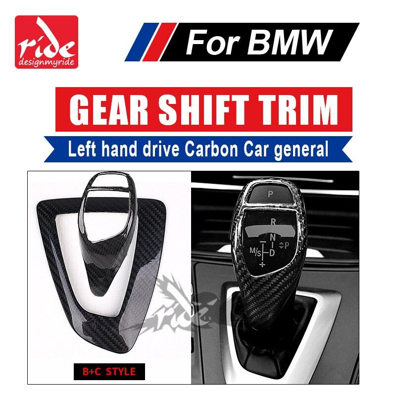 For BMW F01 F02 F03 F04 G11 G12 733i 735i 740i 745i 750i Left hand drive Carbon car genneral Gear Shift Knob Cover trim B+C Type
