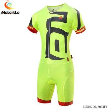 Malciklo Pro Männer Lustige Design Triathlon Team Radfahren Jersey Skinsuit Ropa De Ciclismo Maillot kleidung anzug