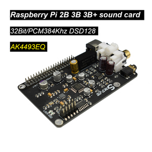 Image 3 - Lusya AK4493 Dac Decoder Board Digitale Broadcast Netwerk Speler I2S 32BIT 384 Khz DSD128 Voor Raspberry Pi 2B 3B 3B + 4B Dac G6 001