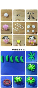 Image 5 - 36 Colors слайм Super Light Clay with 3 Tools Air Drying Light Plasticine Modelling Clay Handmade Educational 5D Toys Blue Clay