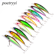 POETRYYI 11cm 14g Fishing Lure Minnow Hard Bait with 2 Hooks Isca Tackle 3D Eyes Y50