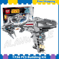 1736pcs Space Wars Ships MOC 05083 Nebulon B Class Escort Medical Frigate Building Blocks Bricks Gifts